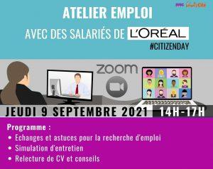 Coaching emploi avec les salariés de l'Oréal @ ZOOM